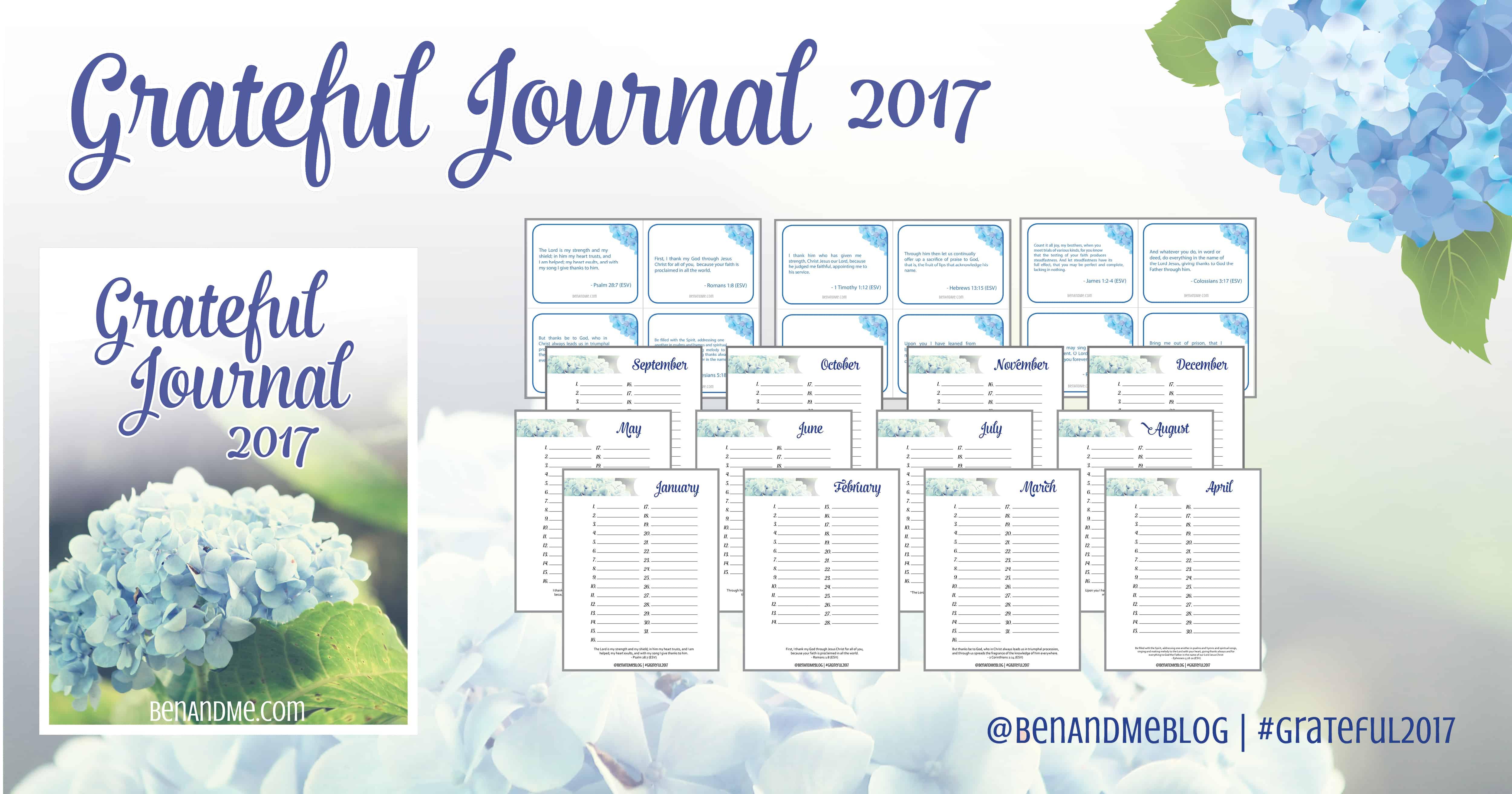 Grateful Journal 2017