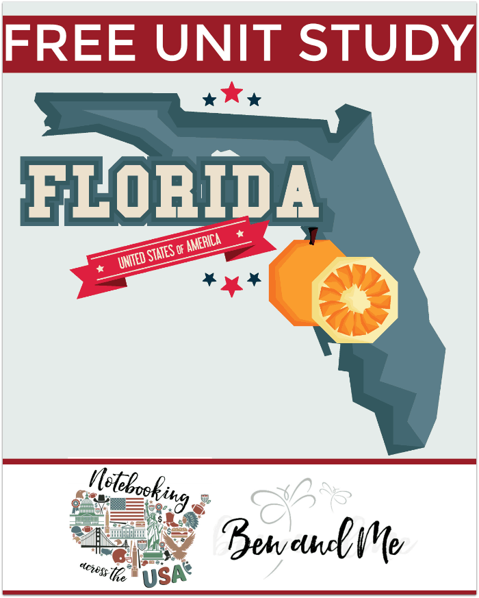 "FREE Florida Unit Study for grades 3-8 -- learn about the ""Sunshine State"" in this 27th installment of Notebooking Across the USA."
