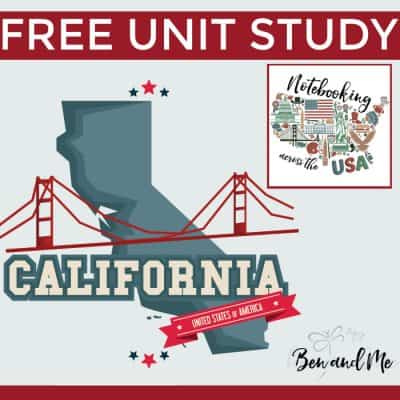 Notebooking Across the USA: California Unit Study