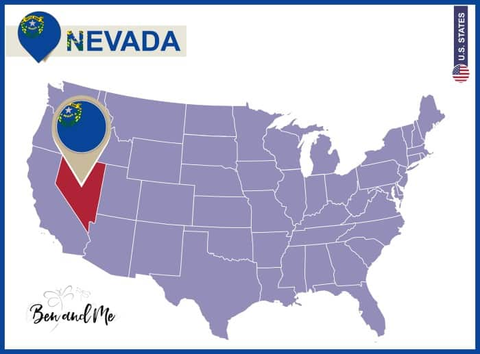Notebooking Across The USA Nevada Unit Study Ben And Me - Nevada on us map
