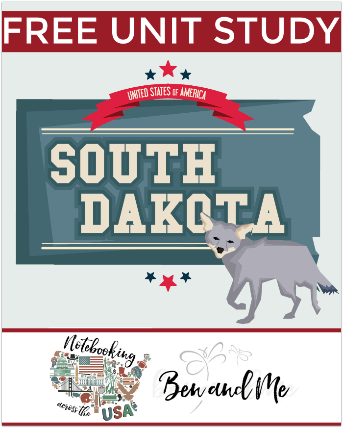 """FREE South Dakota Unit Study for grades 3-8 -- learn about the """"Mount Rushmore State"""" with books, arts and crafts, recipes, and more!"""