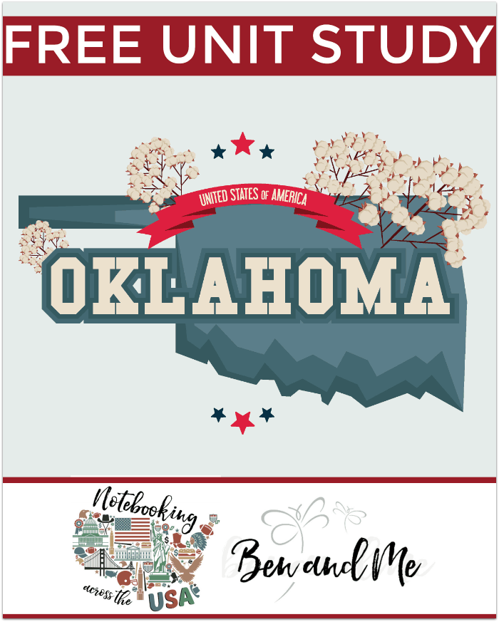 """FREE Oklahoma Unit Study for grades 3-8 -- learn about the """"Sooner State"""" with books, arts and crafts, recipes, and more!"""
